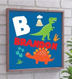 Personalized Kids Dinosaur Wall Dcor