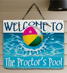 Beach Ball Welcome Personalized Plaque