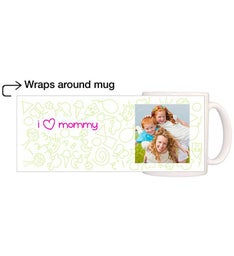 Personalized Kiddy Drawing Girl Magic Mug