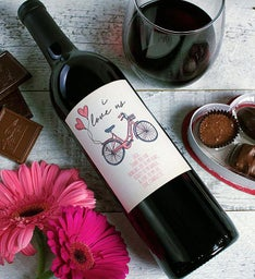 Personalized I Love Us Labeled Wine
