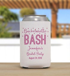 Personalized Bachelorette Bash Can Cooler