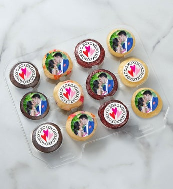 12-24 Mini Personalized Love & Romance Cupcakes