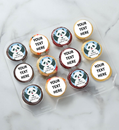 12-24 Mini Personalized Text Sweet Panda Air Hugs Cupcakes
