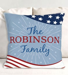 Personalized Patriotic Throw Pillow