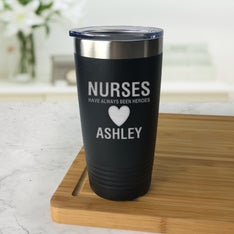 Personalized Nurse Hero Black Tumbler