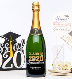 Personalized Class of 2020 Quarantine Wine Bottle