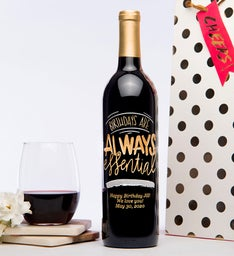 Personalized Birthdays Are Essential Wine Bottle