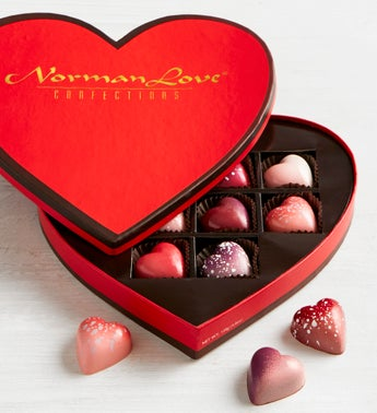 Norman Love Confections 10 pc Heart Box