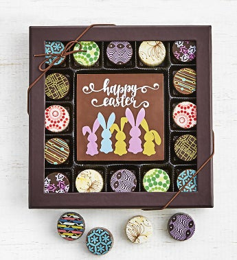 Simply Chocolate Happy Easter Bar & Truffles 17pc