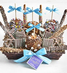 Simply Chocolate Deluxe Happy Easter Snack Basket