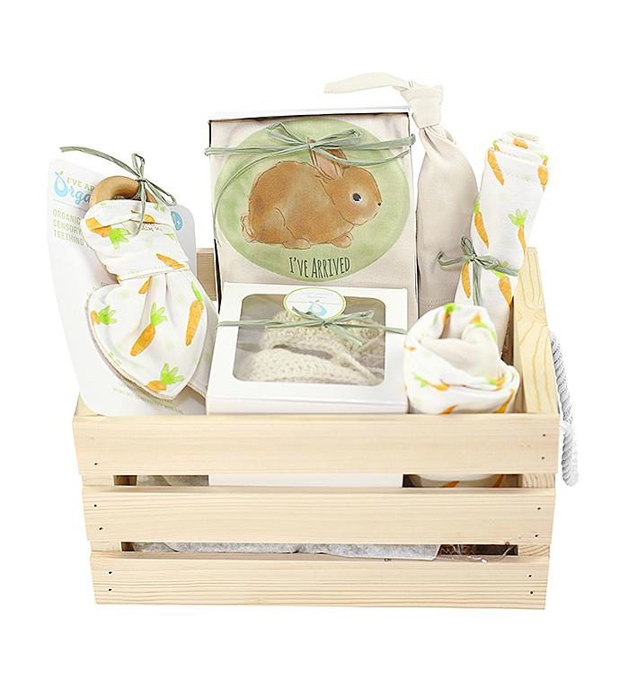 Ive Arrived Organics Baby Gift Crate