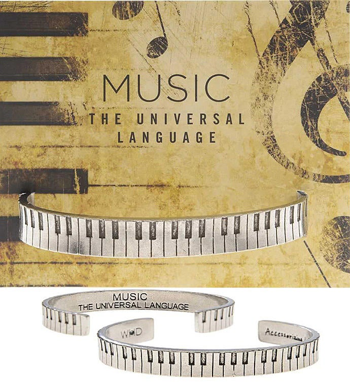 Piano Cuff Inspirational Jewelry Bracelet