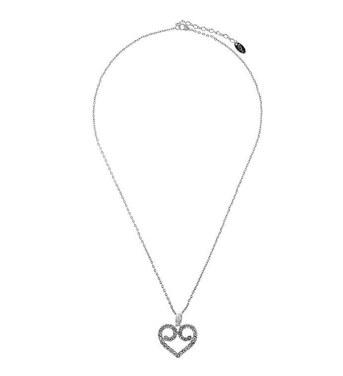 Heart and Crystal Design Necklace