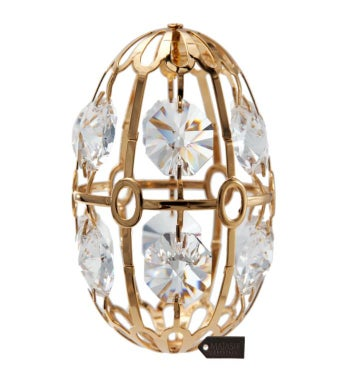 Gold Plated Crystal Easter Egg Ornament