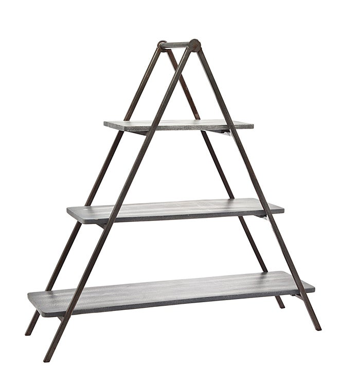 Grey Wash 3 Tier Woodmetal