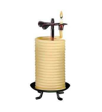 Self Extinguishing Coil Candle (Unscented) 80 Hour
