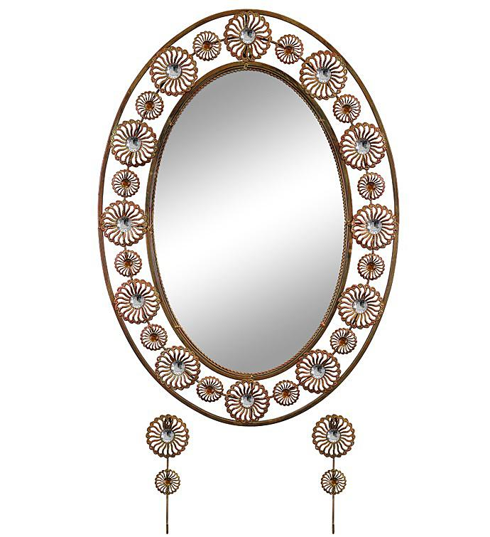 Oval Wall Mirror  Key Holder