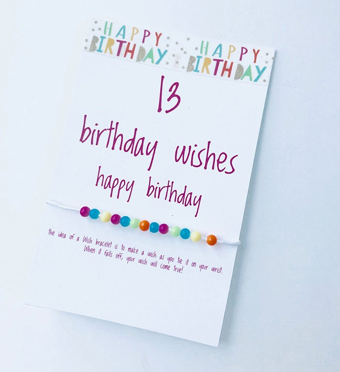 13 Birthday Wish Bracelet