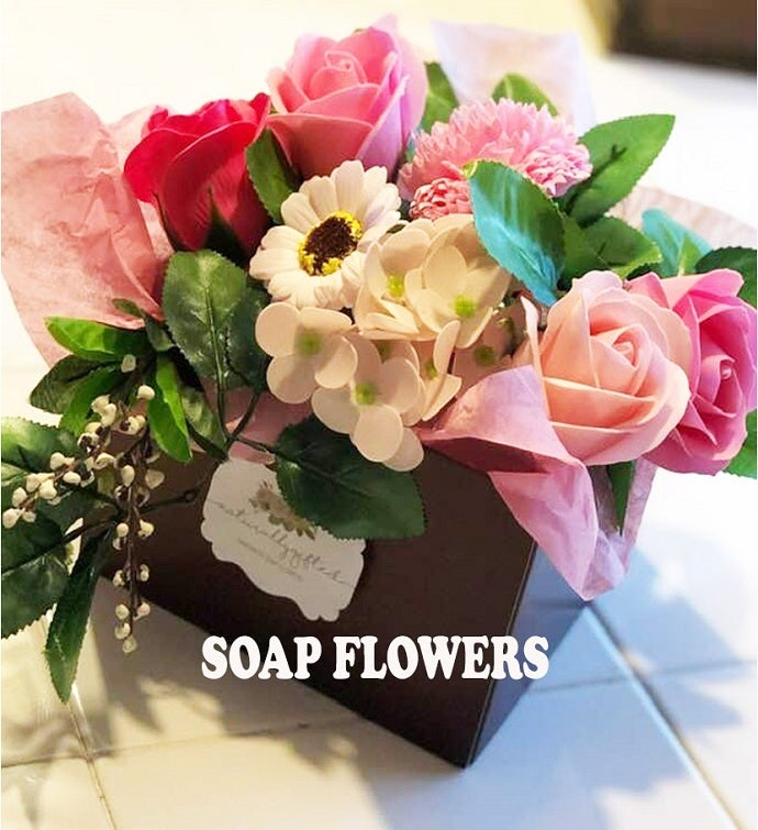 Pink Soap Flower Box