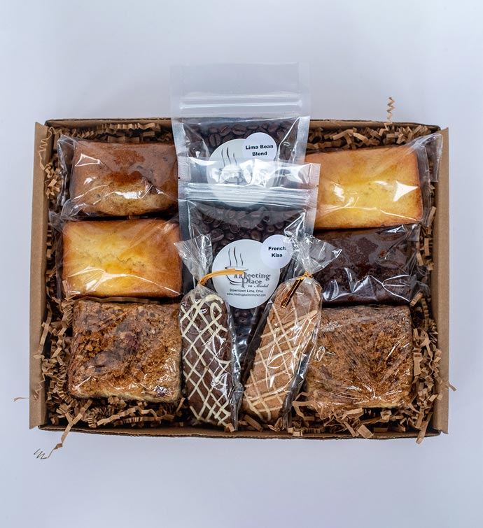 Gourmet Breakfast Gift Basket With Coffee And Homemade Baked Goods