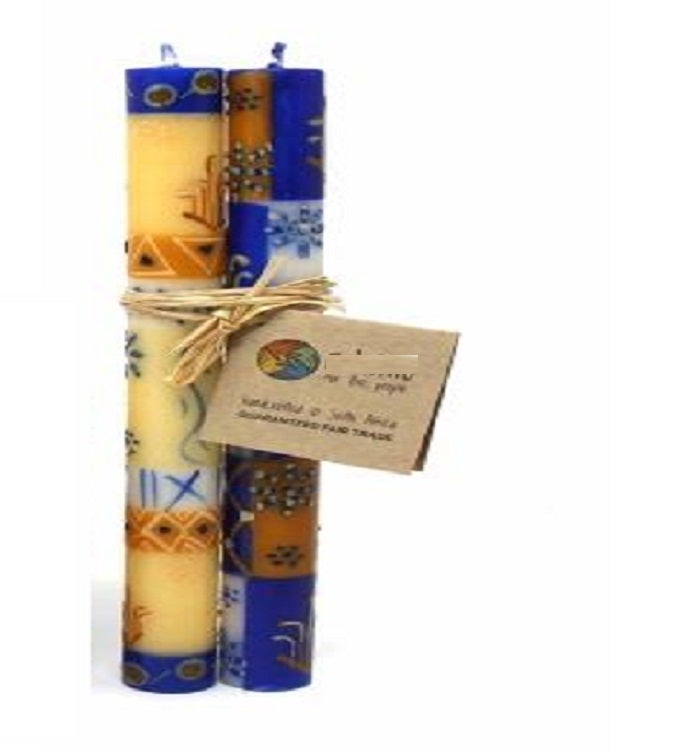 Durra Design Hand Painted Taper Candles
