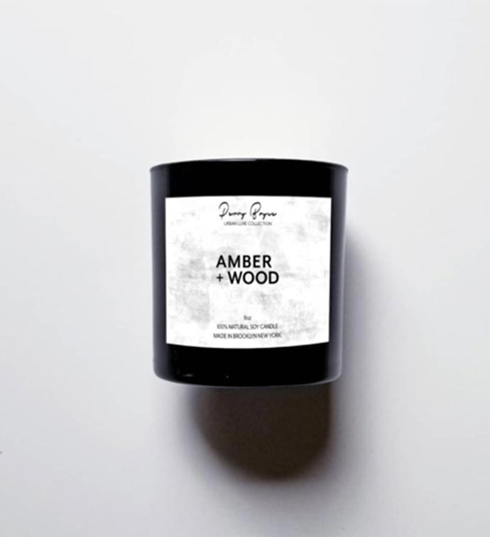 100 Natural Soy Candle - Amber  Wood