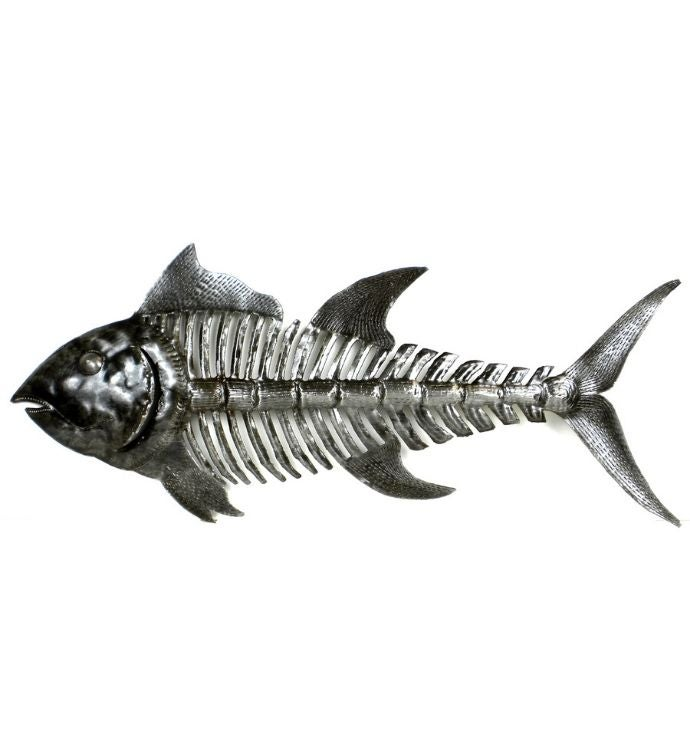 Recycled Steel Haitian Art Bone Fish 2434 Length