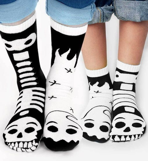 Ghost & Skeleton Pals | Adult + Kid Socks