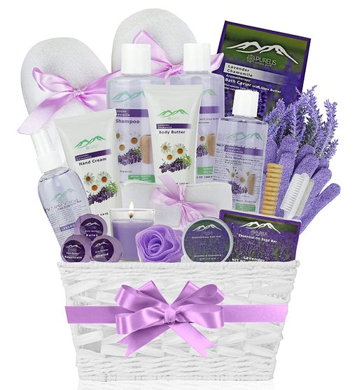 Lavender Chamomile Deluxe Bath & Body Gift Basket