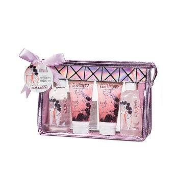 Rose Champagne and Blackberry Travel Spa Gift Set