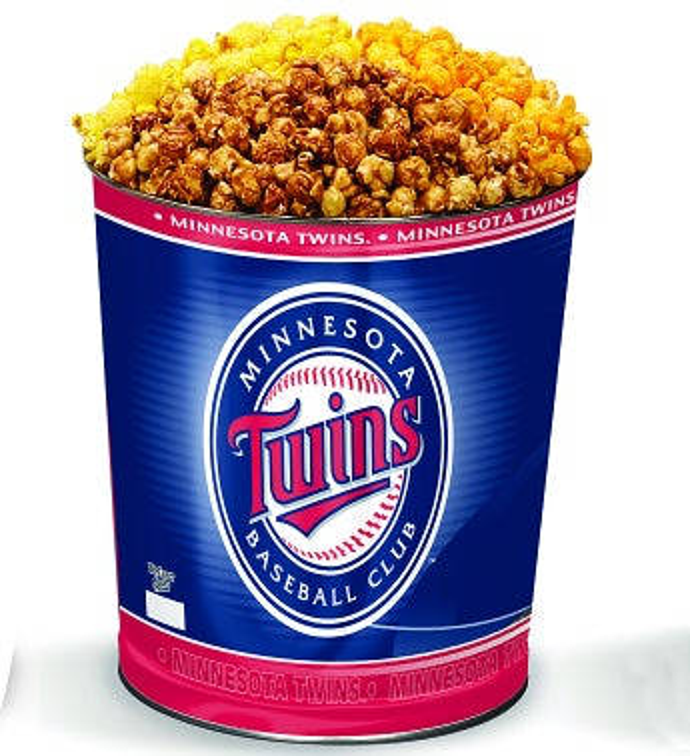 Minnesota Twins 3-Flavor Popcorn Tins