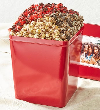 3 Gallon Chocolate Trio 3 Flavor Popcorn Tins