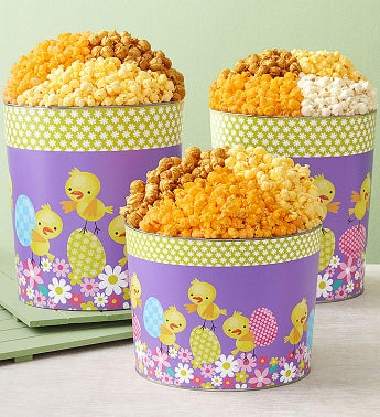 Playful Chicks Popcorn Tins