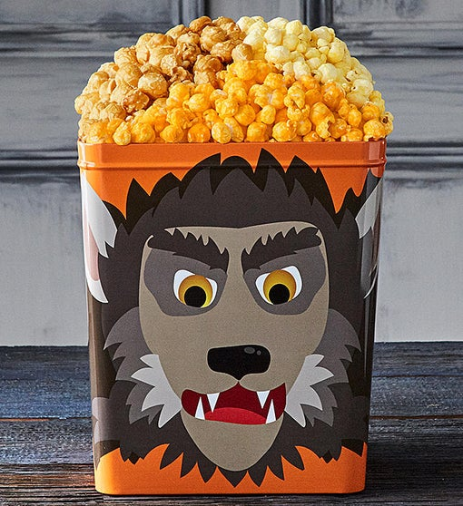 NEW! Monster Mash Werewolf 3 1/2 Gallon 3 Flavor Popcorn Tin