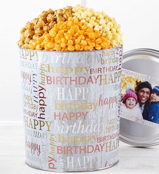 New! Birthday Brilliance Popcorn Tins