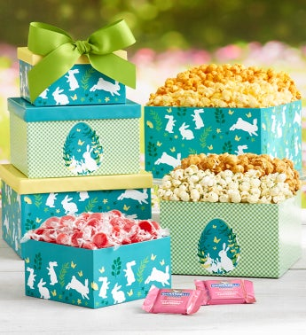 Easter Elegance 3 Gift Box Tower