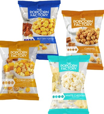 8 Pack Assorted Flavors Popcorn Bags