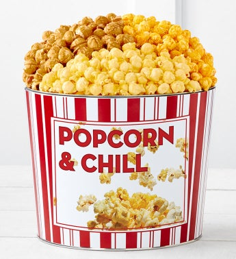 Tins With Pop Popcorn and Chill