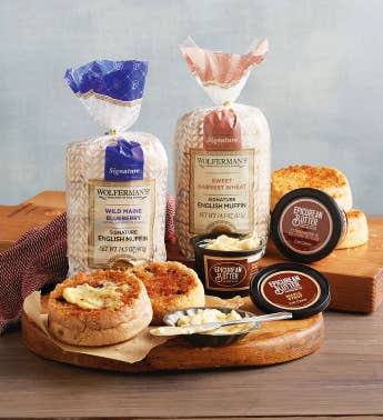 Sweet English Muffins and Gourmet Butters