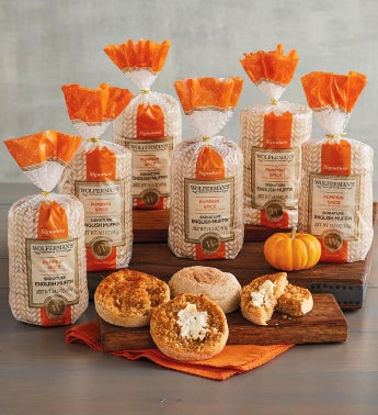 Pumpkin Spice Super-Thick English Muffins - 6 Packages